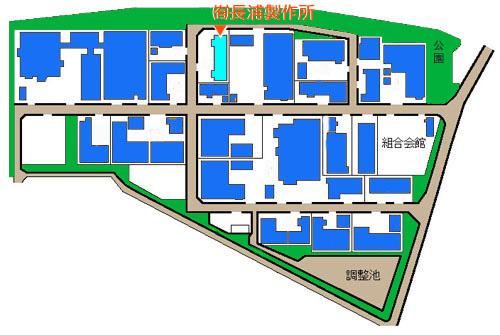 流山工業団地内位置